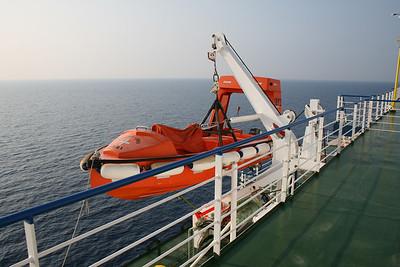2009 - On board F/B CARTOUR GAMMA : fast rescue boat.