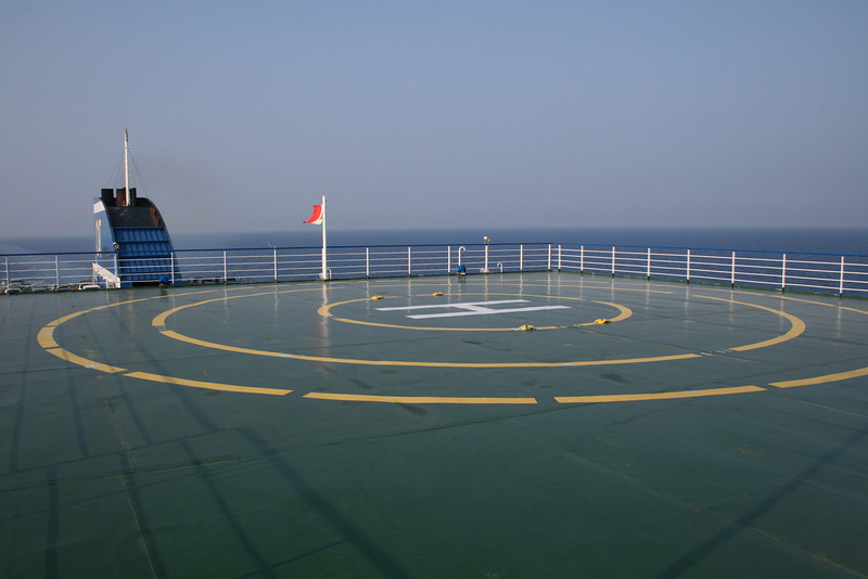 2009 - On board F/B CARTOUR GAMMA : landing platform.