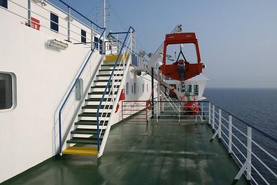 2009 - On board F/B CARTOUR GAMMA : outer way to the bridge.