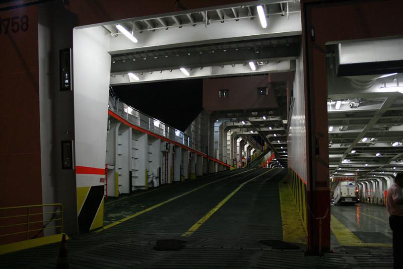 2009 - On board F/B CARTOUR GAMMA : ramp to upper car decks.