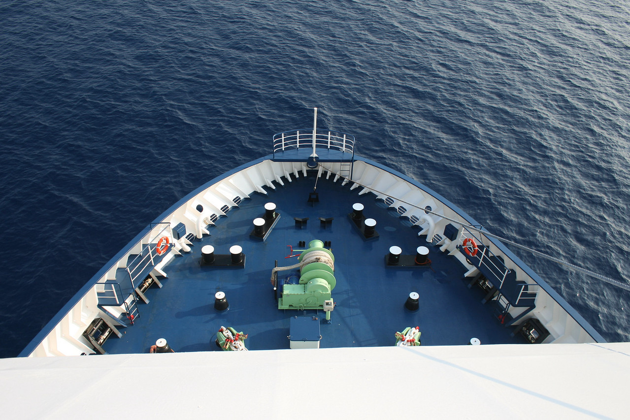 2009 - On board F/B CARTOUR GAMMA : bow operating station.