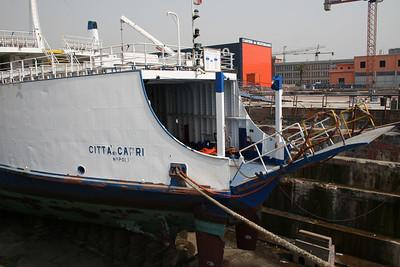 2008 - F/B CITTA' DI CAPRI in dry dock in Napoli.