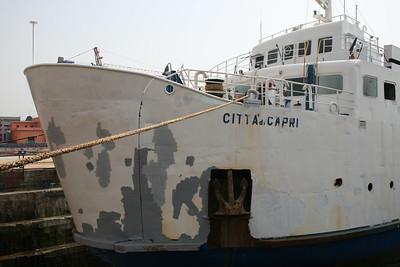 2008 - F/B CITTA' DI CAPRI in dry dock in Napoli. Needs repainting.