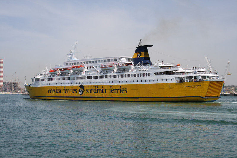 2008 - F/B CORSICA VICTORIA departing from Civitavecchia to Golfo Aranci.