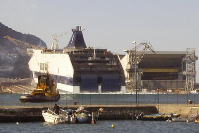 2008 - CRUISE BARCELONA launching in shipyard Fincantieri in Castellammare di Stabia.