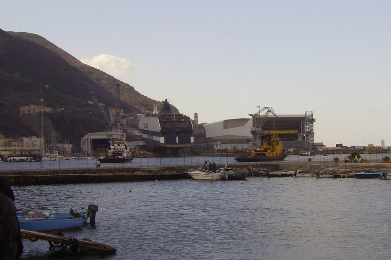 2008 - CRUISE BARCELONA in construction, still in shipyard Fincantieri in Castellammare di Stabia.