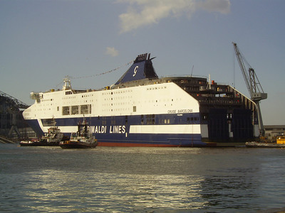 2008 - CRUISE BARCELONA after launching in shipyard Fincantieri in Castellammare di Stabia.