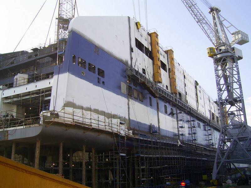 2007 - CRUISE BARCELONA in construction, still in shipyard Fincantieri in Castellammare di Stabia.