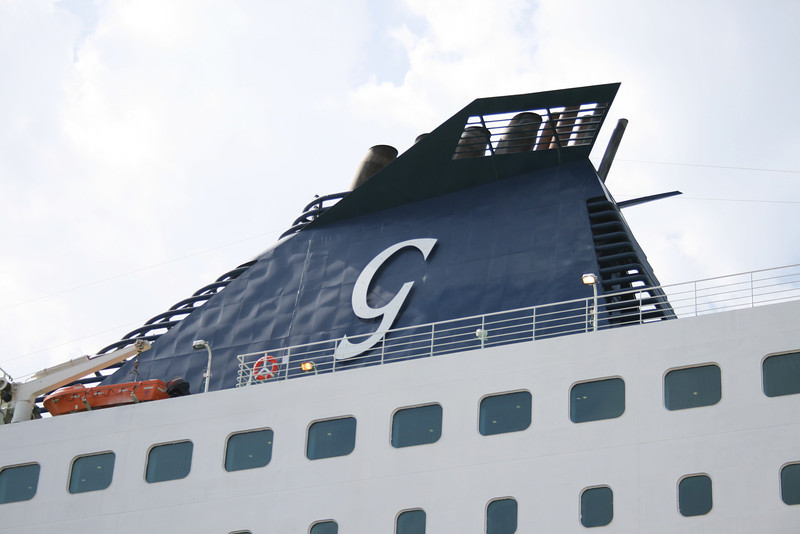 2008 - CRUISE ROMA moored in Civitavecchia. The funnel.