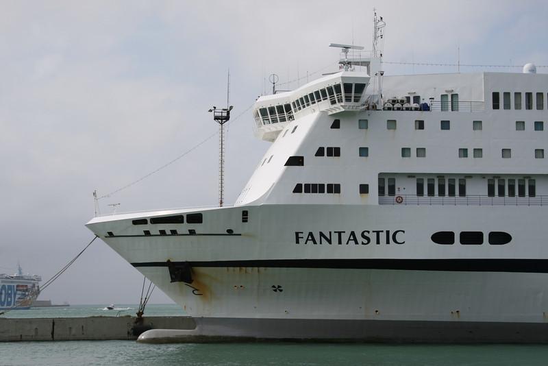 2008 - F/B FANTASTIC moored in Civitavecchia.