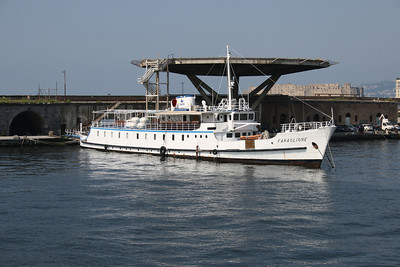 2010 - F/B FARAGLIONE laid up in Napoli. From 1964 to 2008 the fastest traditional ferry on Sorrento - Capri route.