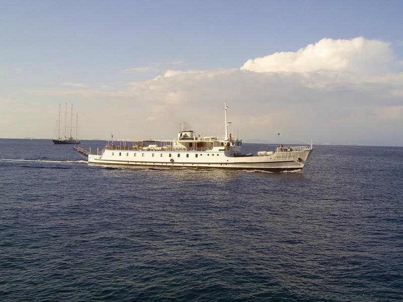 2007 - F/B FARAGLIONE offshore Capri. From 1964 to 2008 the fastest traditional ferry on Sorrento - Capri route.