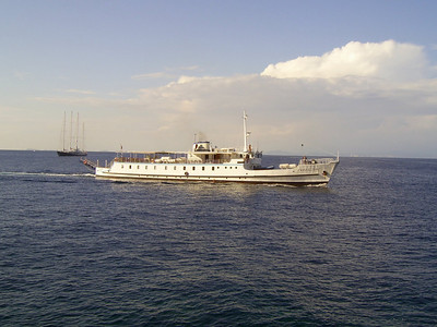2007 - F/B FARAGLIONE offshore Capri. From 1964 to 2008 the fastest traditional ferry on Sorrento - Capri route.