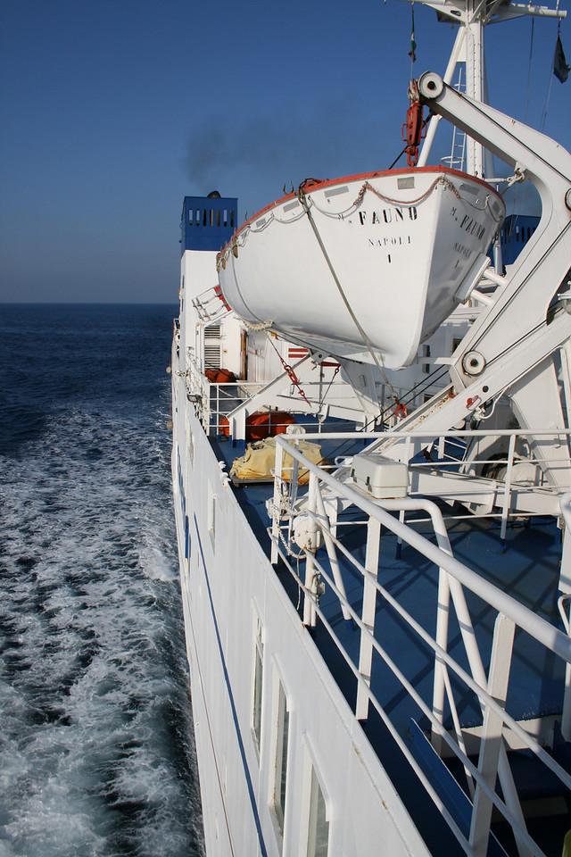 2008 - On board F/B FAUNO : look aft from the bridge wing.