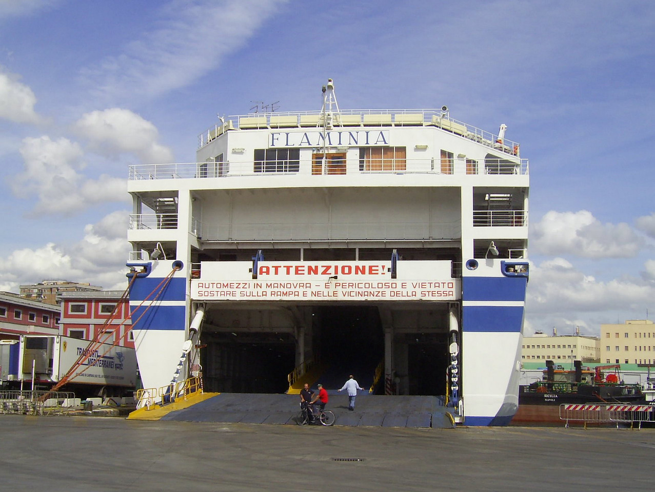 2007 - F/B FLAMINIA moored in Napoli.