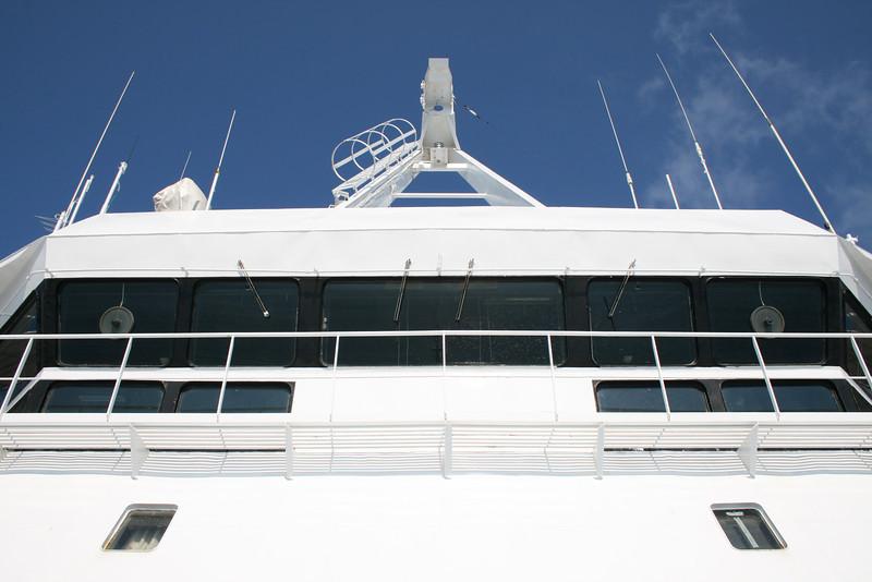 2009 - On board LAURANA : the bridge.