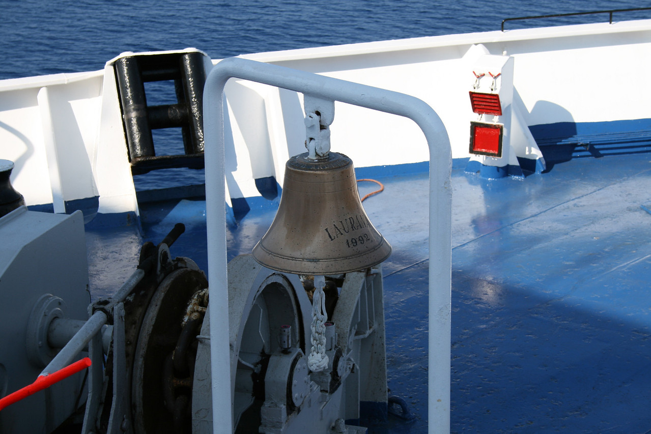 2009 - On board LAURANA : the bell.