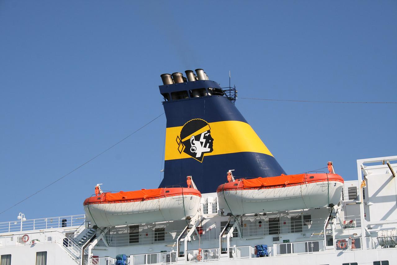 2009 - F/B MEGA SMERALDA in Toulon : the funnel.