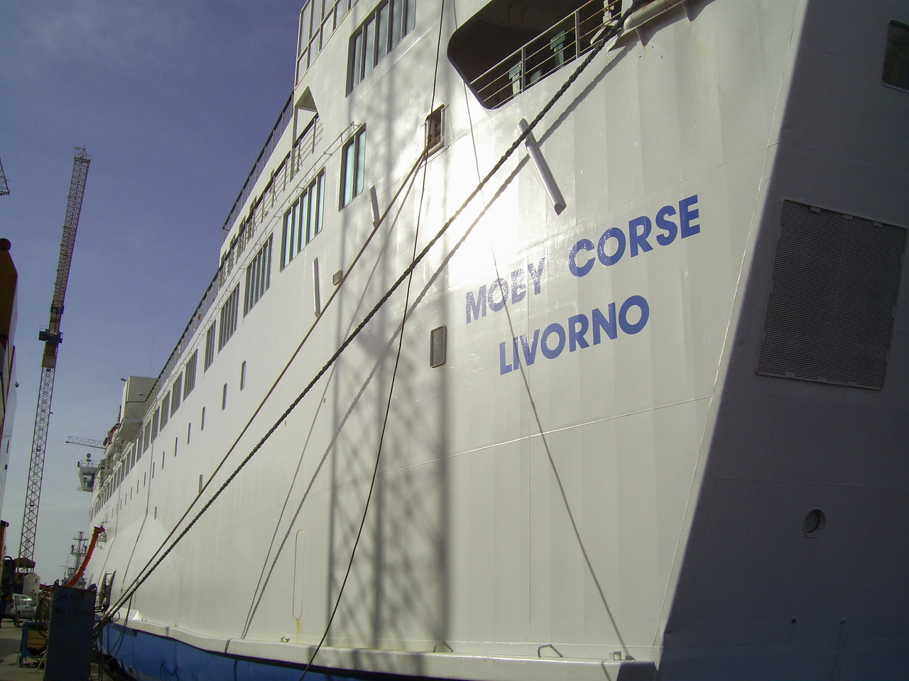 2009 - F/B MOBY CORSE docked in Napoli waiting the new livery.