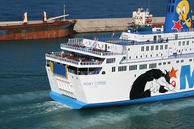 2011 - MOBY CORSE departing from Civitavecchia to Olbia.