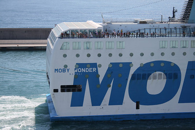 2010 - F/B MOBY WONDER departing from Civitavecchia.
