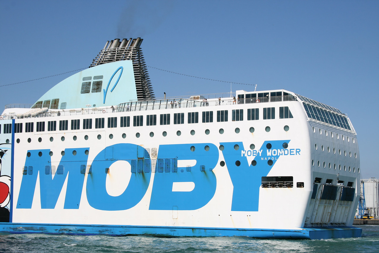 2011 - F/B MOBY WONDER departing from Civitavecchia.