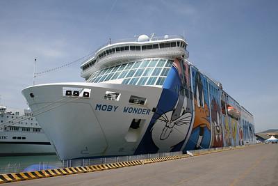 2008 - F/B MOBY WONDER moored in Civitavecchia.
