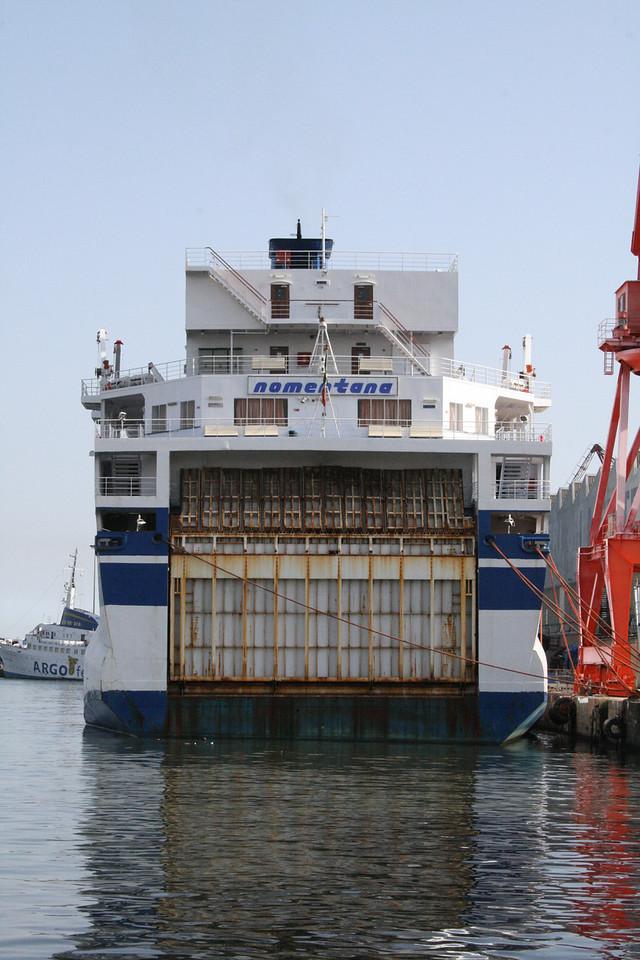 2008 - F/B NOMENTANA docked in Napoli.