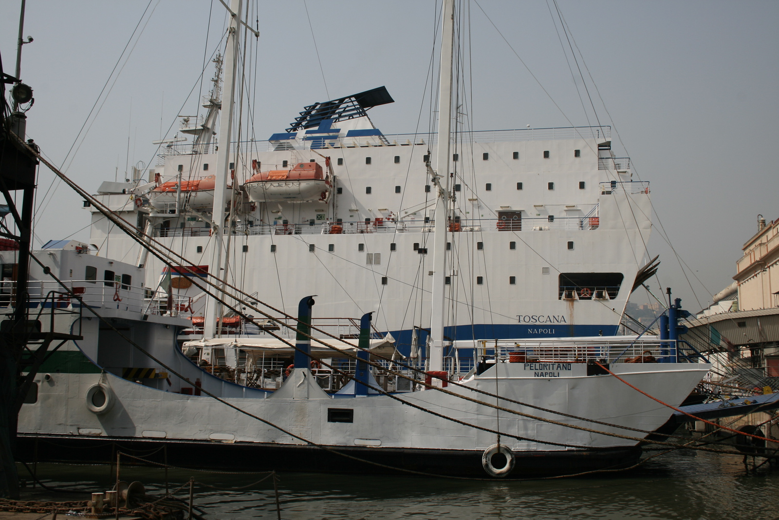 2008 - F/B PELORITANO laid up in Napoli. At side F/B TOSCANA in repairing works.