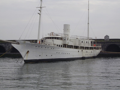 2010 - SANTA MARIA DEL MARE laid up in Napoli after conversion works.