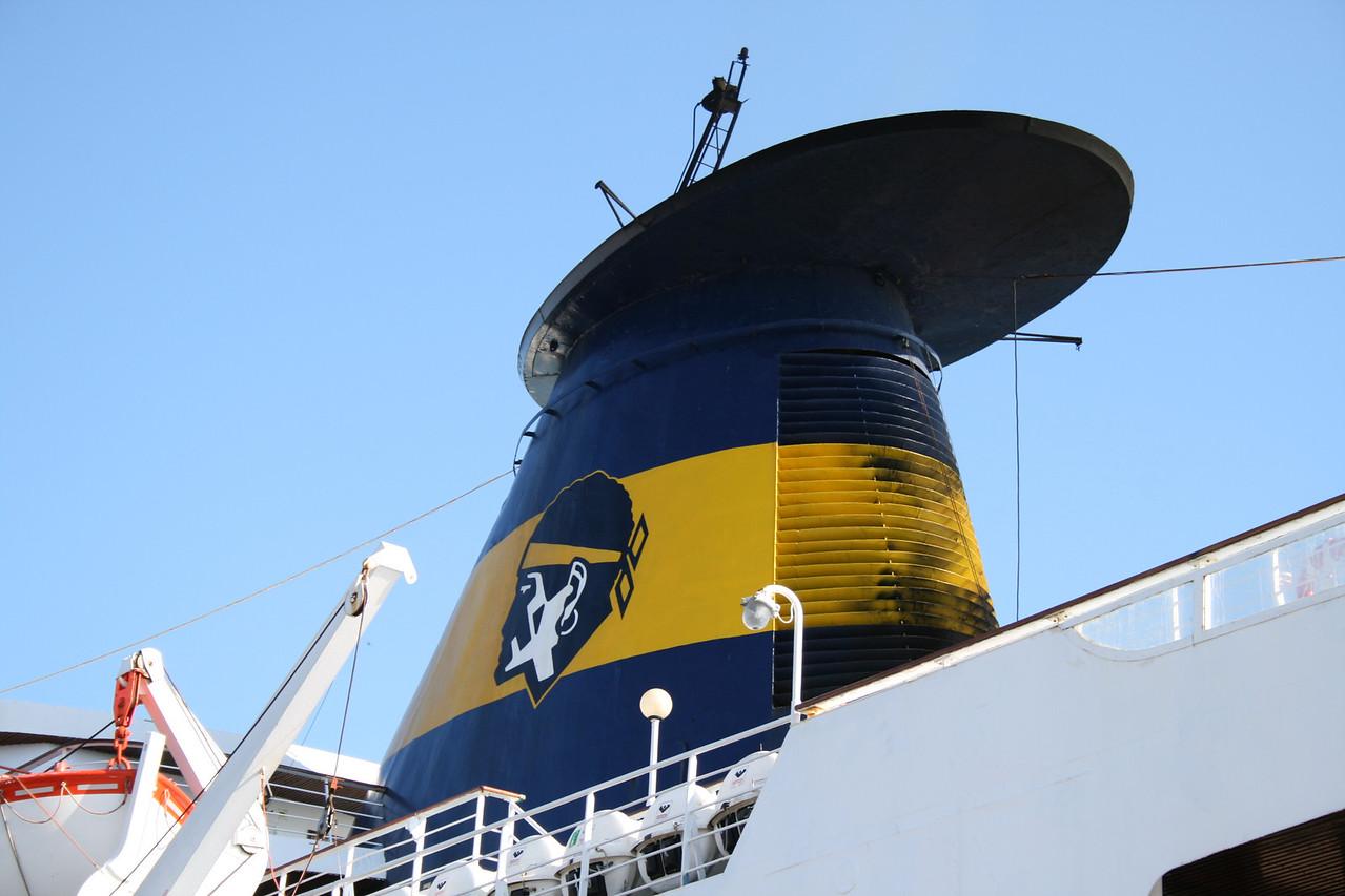 2008 - F/B SARDINIA REGINA in Golfo Aranci : the funnel.