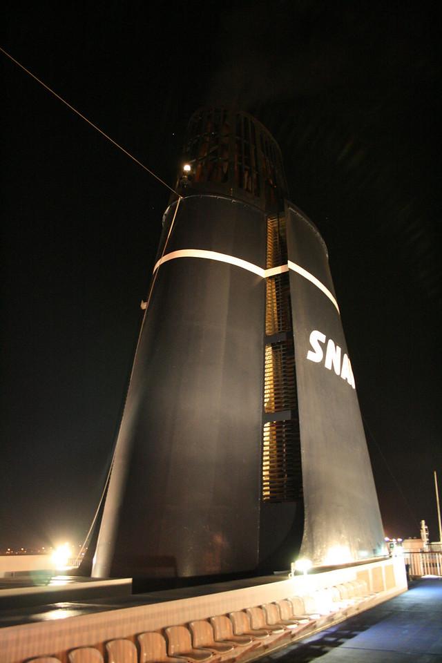 2008 - On board F/B SNAV TOSCANA : the funnel.