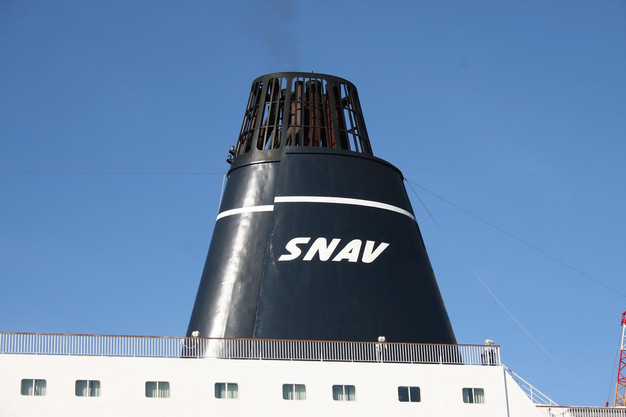 2008 - F/B SNAV TOSCANA : the funnel.