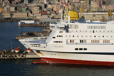 2009 - F/B SPLENDID docked in Genova at works.