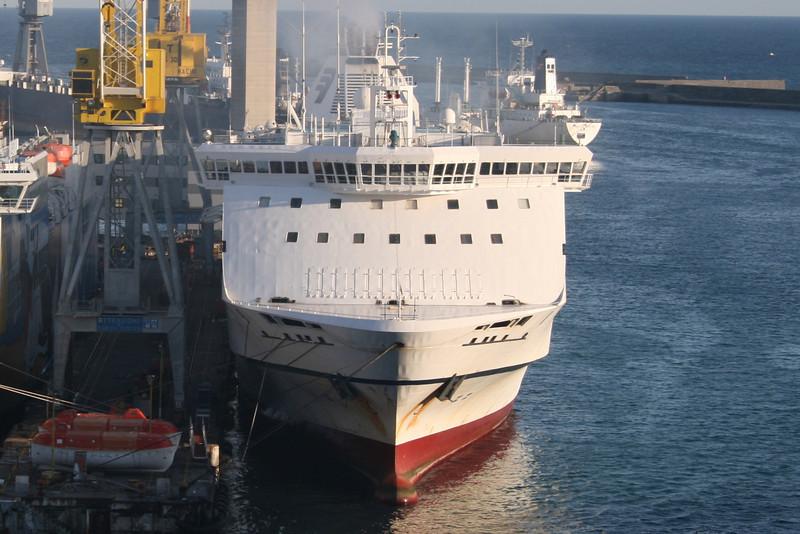 2009 - F/B SPLENDID docked in Genova at works.