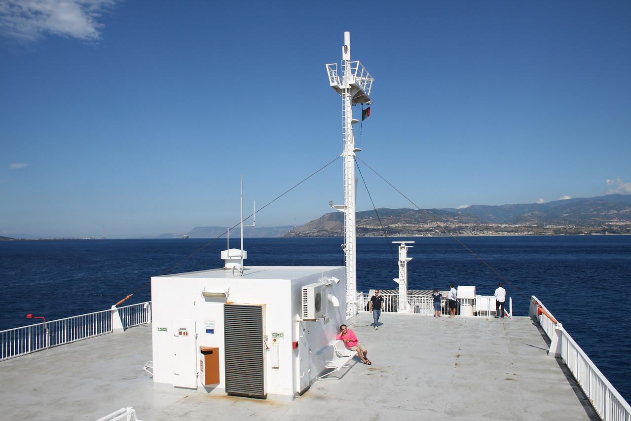 2010 - On board VESTFOLD : sun deck.
