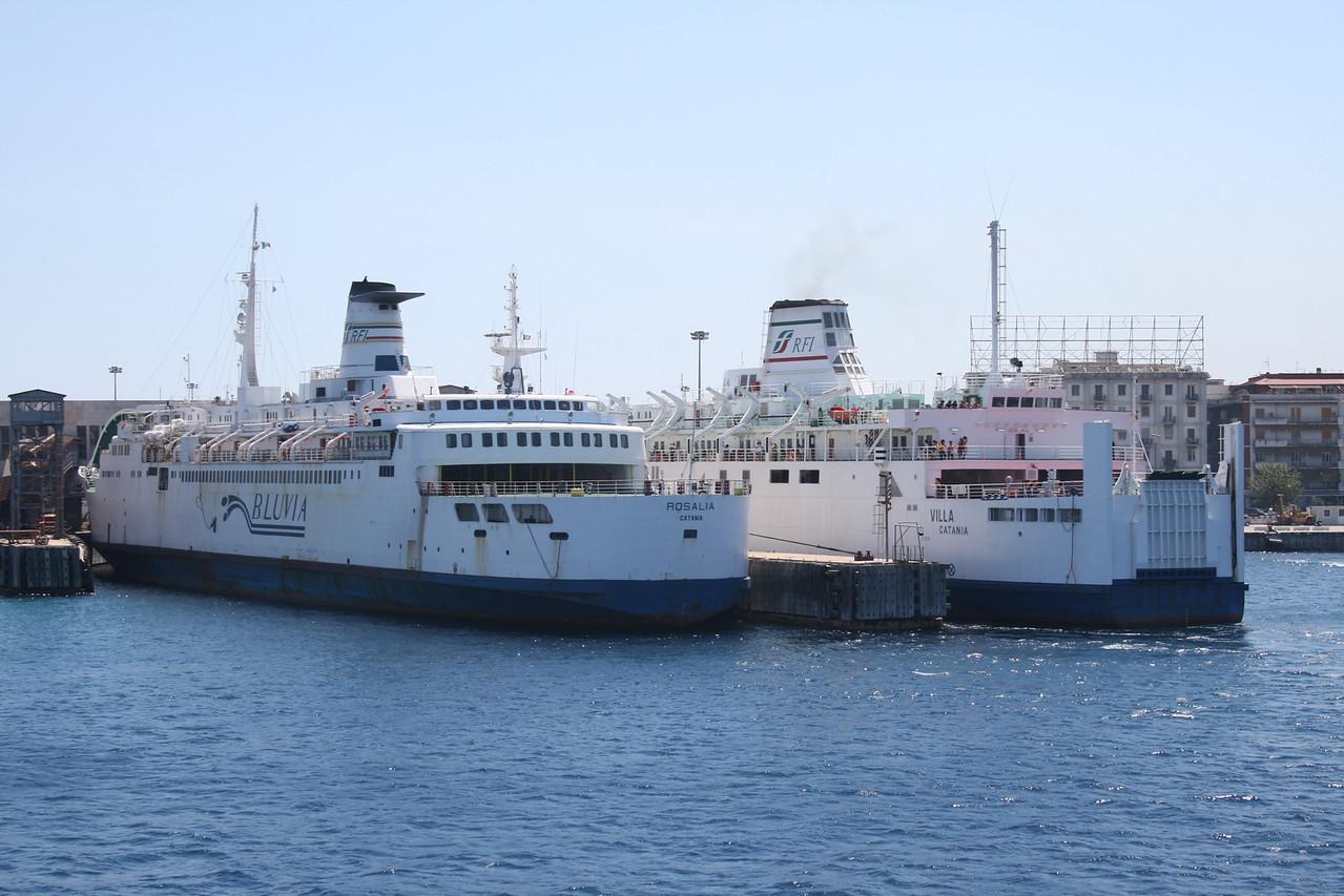 2010 - Trainferries ROSALIA and VILLA in Messina.