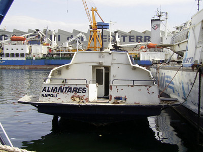 ALIANTARES laid up in Napoli.
