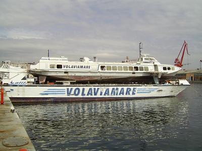 ALIARTURO laid up in Napoli, on the burned hull of EMANUELE D'ABUNDO.