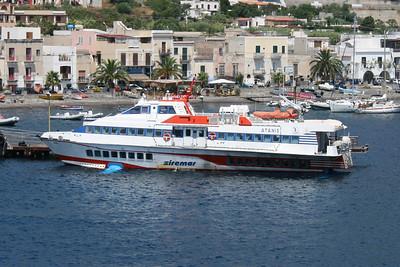 2009 - Hydrofoil ATANIS in Lipari.