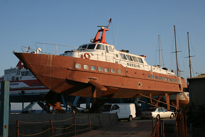 2009 - Hydrofoil DUCCIO laid up in dry dock in Messina.