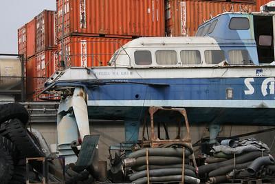 Hydrofoil FRECCIA DEL GIGLIO definitively laid up in Napoli.