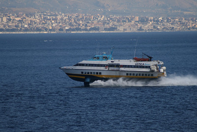 2010 - Hydrofoil NATALIE M in the strait of Messina.