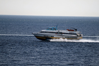 2010 - Hydrofoil NATALIE M speeding up in the strait of Messina.