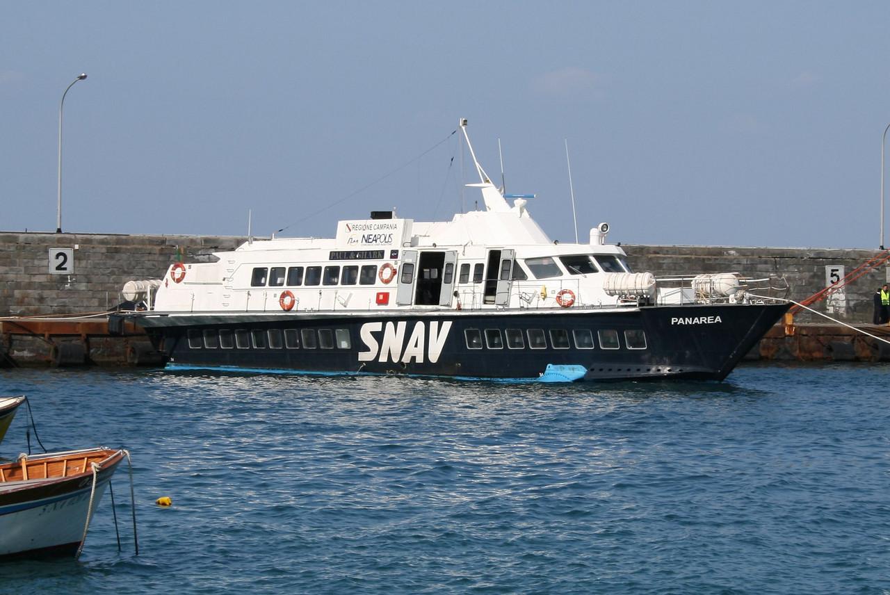 2008 - Hydrofoil PANAREA in Capri.