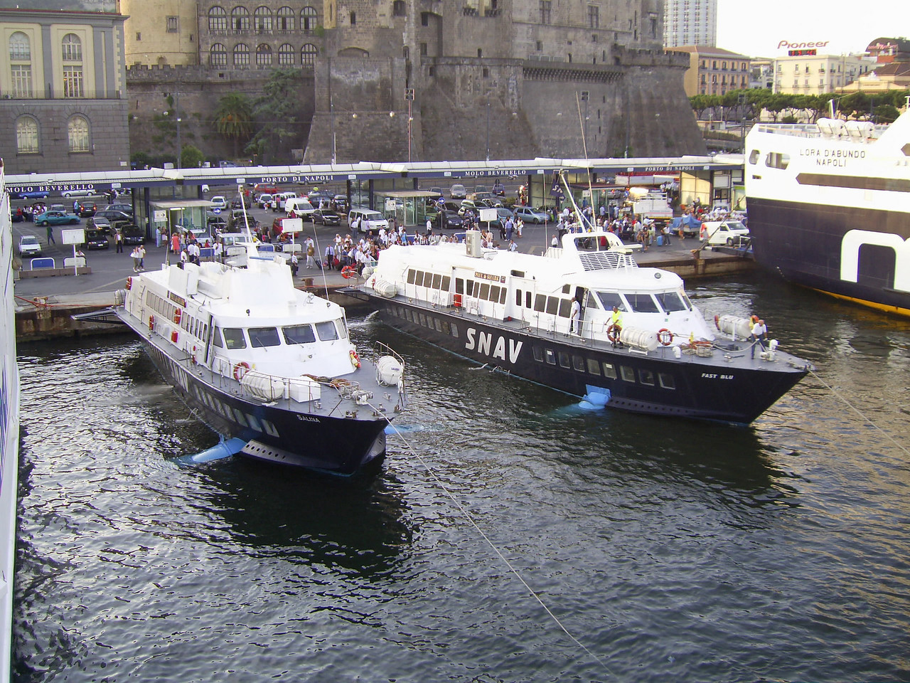 Hydrofoils SALINA and FAST BLU in the port of Napoli