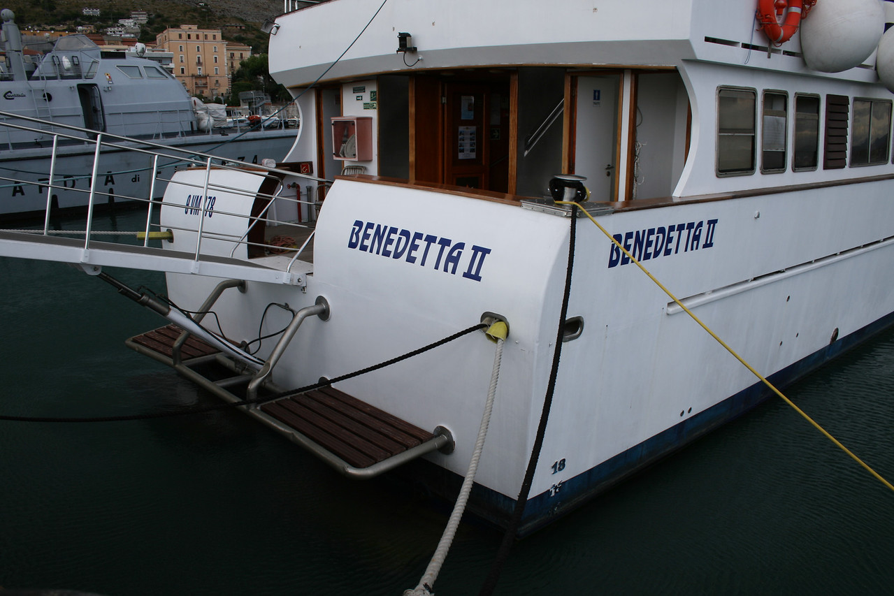 2011 - BENEDETTA II in Formia before winter laid-up