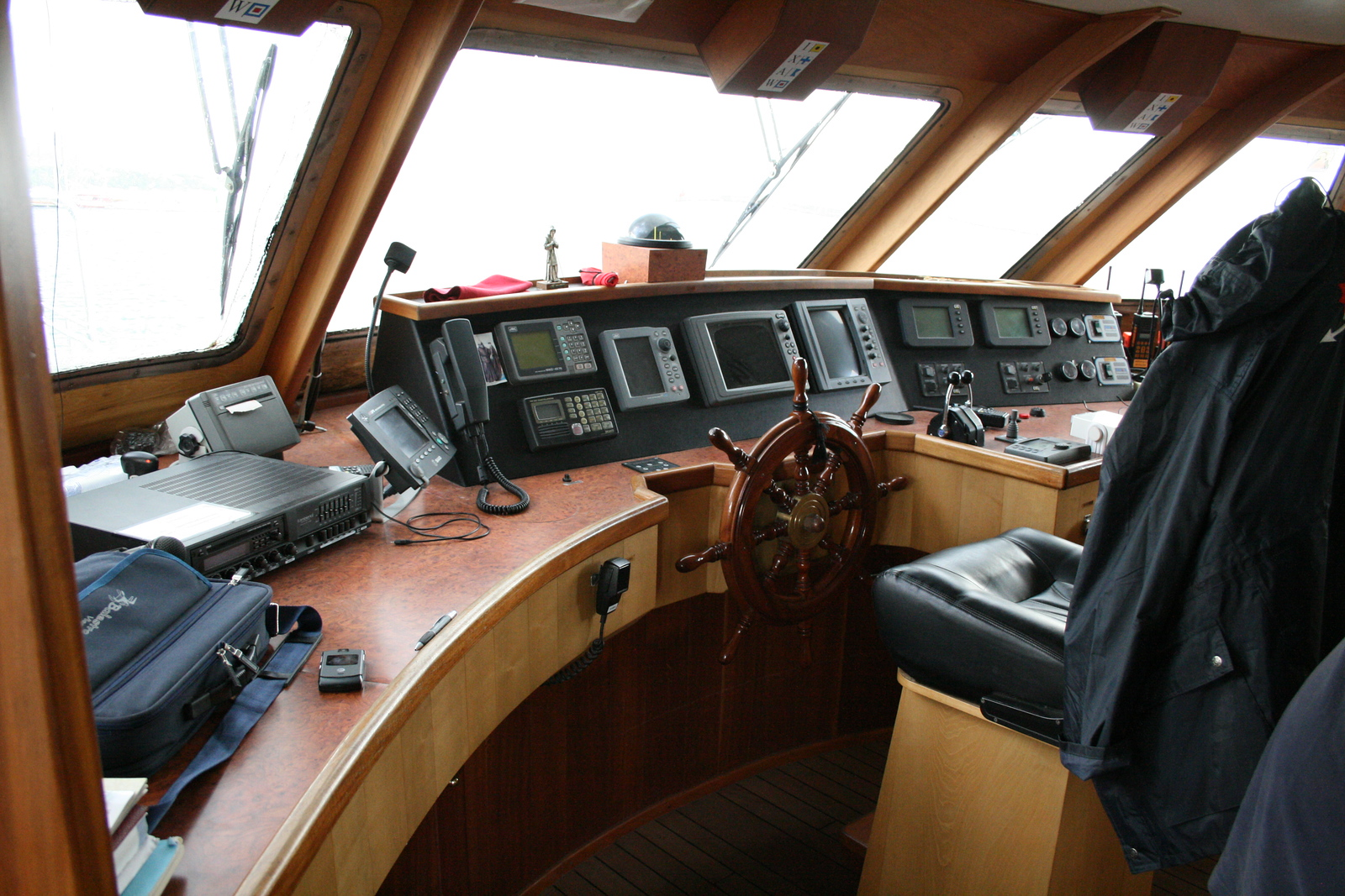 2011 - On board BENEDETTA II in Formia before winter laid-up
