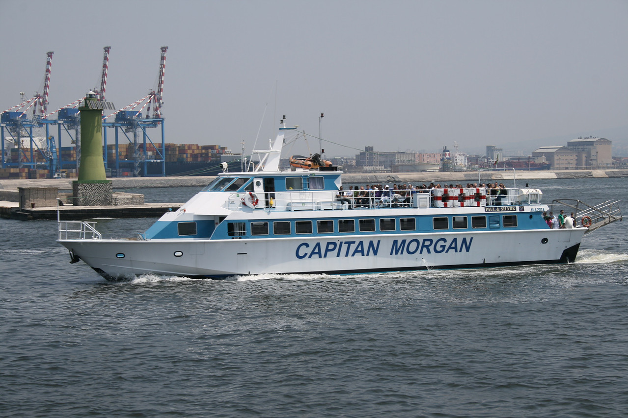 M/V FRECCIA DEL GOLFO chartered to US Navy as shuttle boat in Napoli.