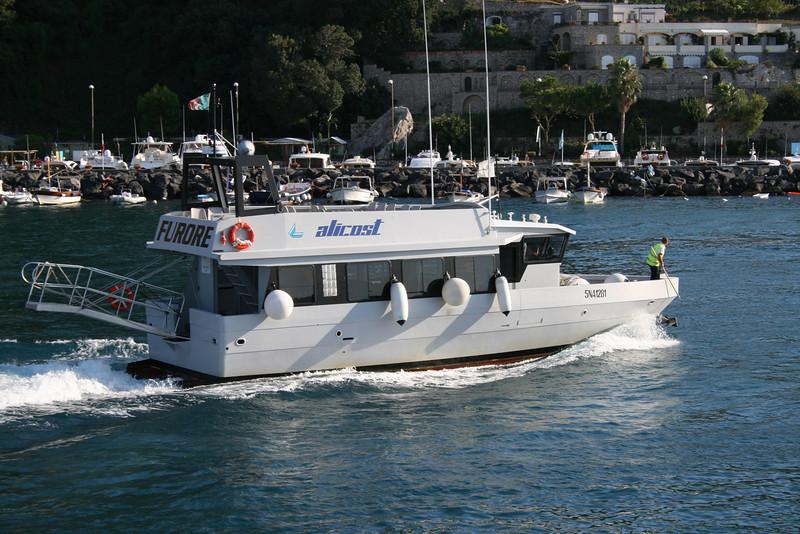M/V FURORE arriving to Capri from Amalfi coast.